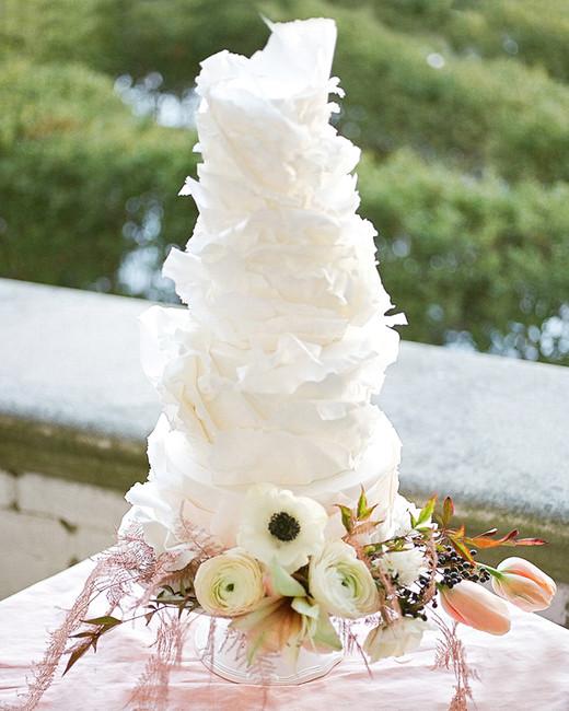europe style tall white cake