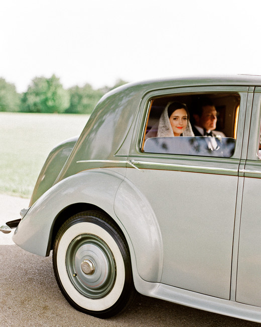 green wedding ideas leslee mitchell car