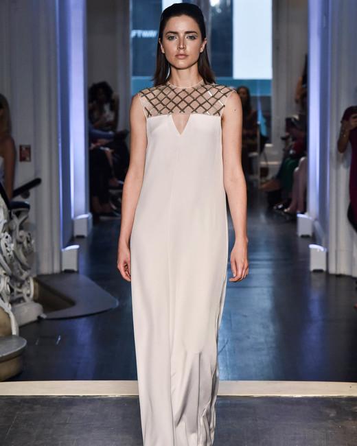 lakum wedding dress fall 2018 column sleeveless high neck