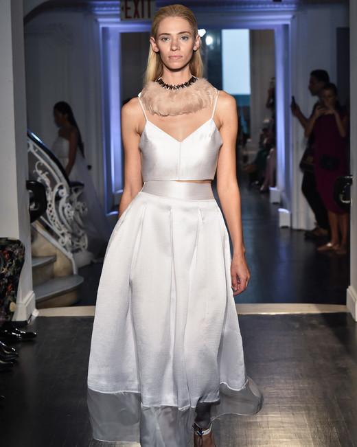 lakum wedding dress fall 2018 separates tea length spaghetti strap