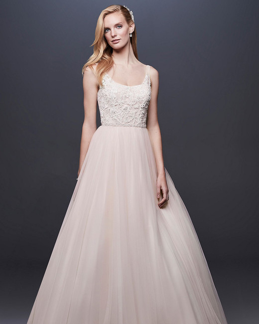 David's Bridal Lace and Tulle Ball Gown