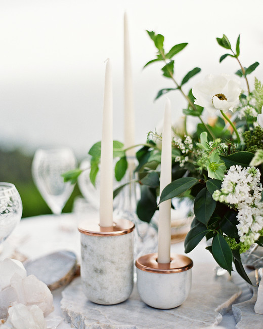 marble wedding ideas centerpiece