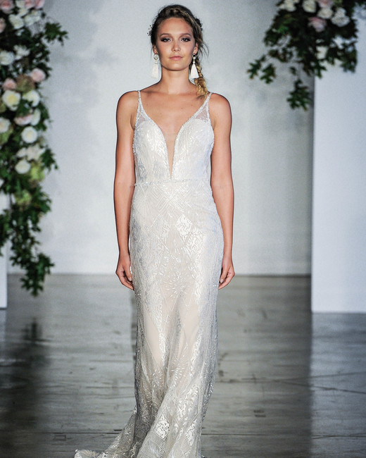 Morilee V-Neck Spaghetti Strap Wedding Dress Fall 2018