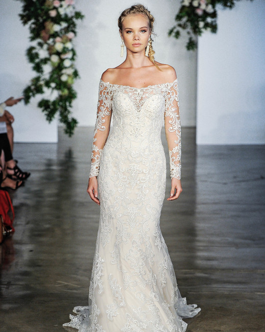 Morilee Off-the-Shoulder Long Sleeves Wedding Dress Fall 2018