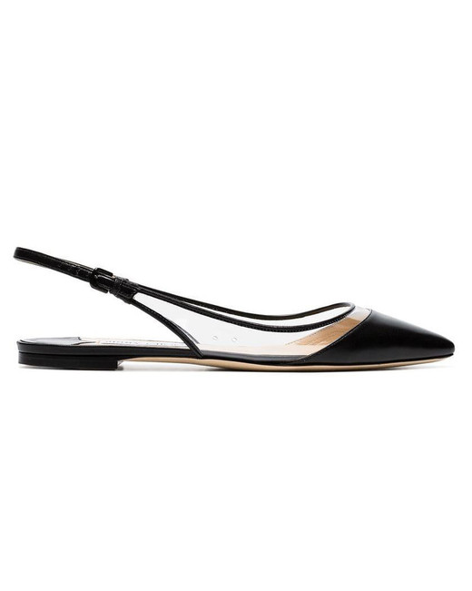 outdoor wedding shoes pvc sling-back flats
