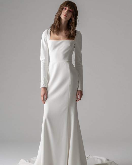 rivini by rita fall 2019 long sleeve sheath wedding dress