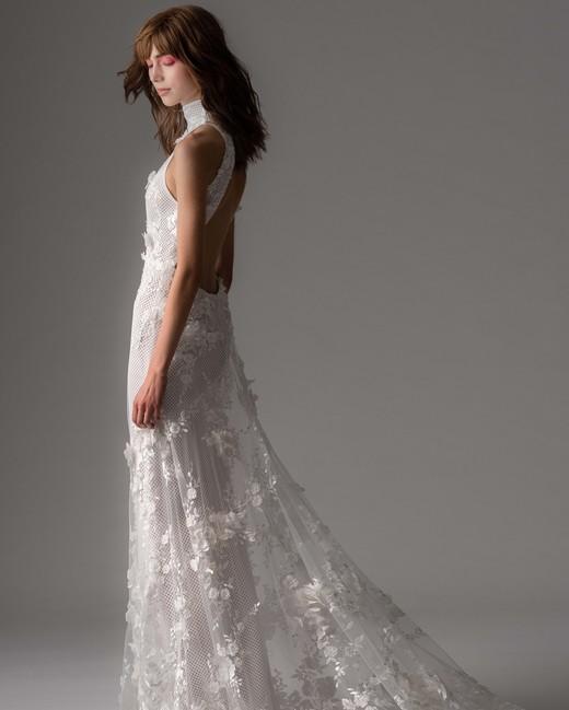 rivini by rita fall 2019 high neck sheath sheer wedding dress