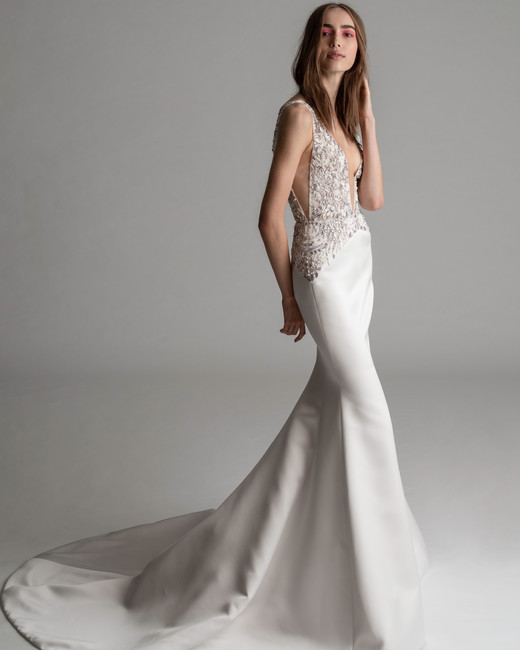 rivini by rita fall 2019 v-neck spaghetti strap trumpet wedding dress