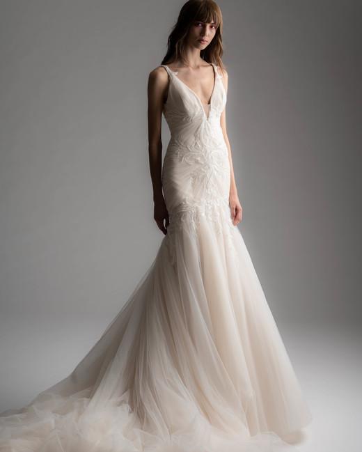 rivini by rita fall 2019 v-neck trumpet tulle wedding dress
