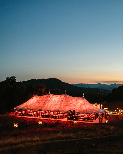 wedding tent night