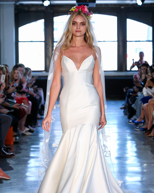 wtoo watters wedding dress spring 2019 spaghetti-strap v-neck trumpet