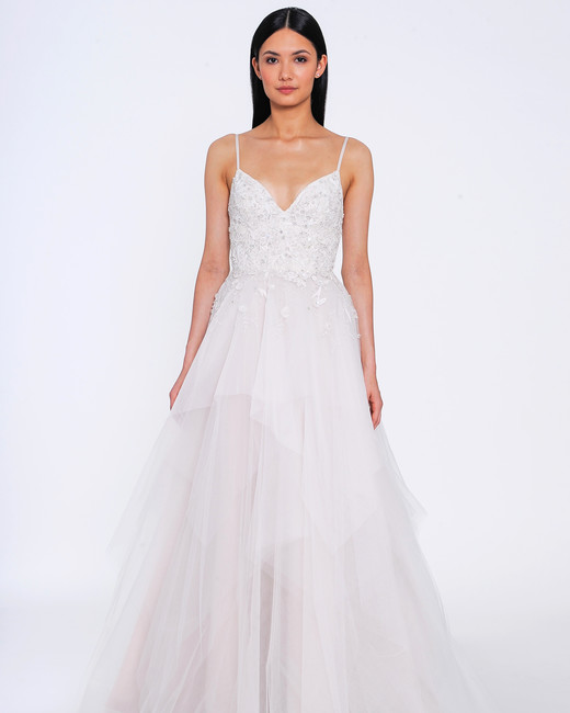 allison webb wedding dress spring 2019 tiered spaghetti strap