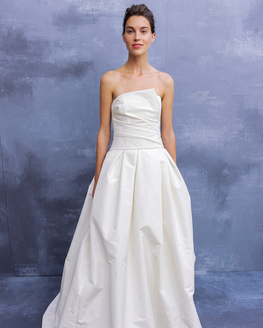 amsale fall 2018 ball gown with ruched bodice