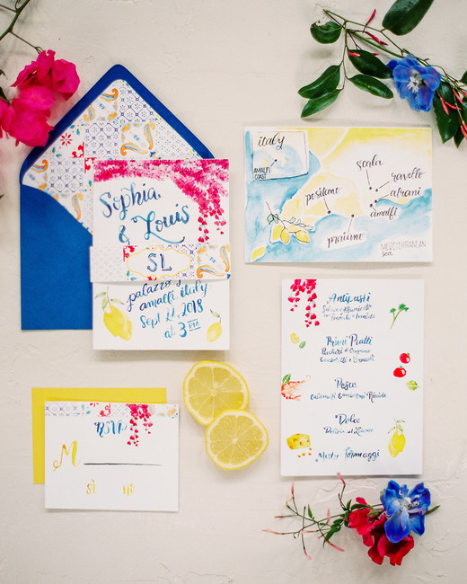 beach wedding invitations european flair