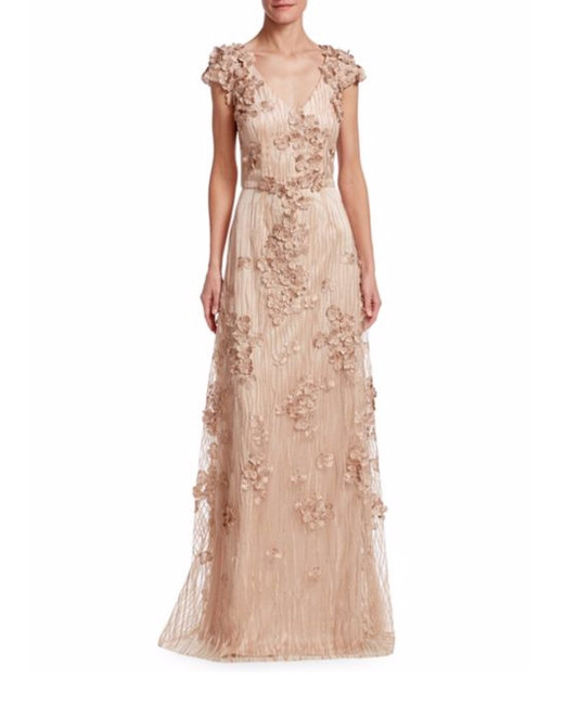 beige mother of the bride gown