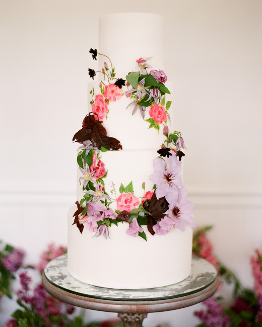 how to decorate wedding cakes with real flowers 44 wedding cakes with fresh flowers martha stewart weddings 15689