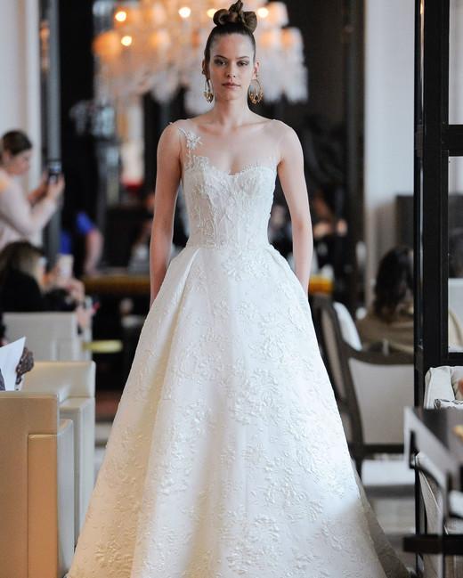 illusion neckline exposed boning semi sweetheart a-line wedding dress Ines Di Santo Spring 2020