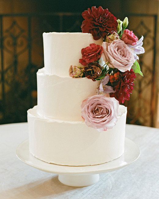 ivana nevin wedding cake with flowers