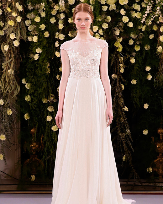 jenny packham wedding dress spring 2019 cap sleeve illusion neck
