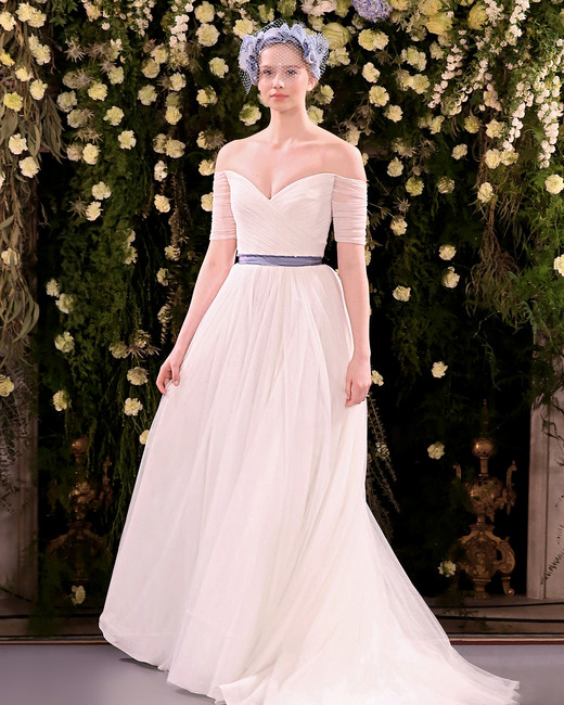jenny packham wedding dress spring 2019 belted off-the-shoulder