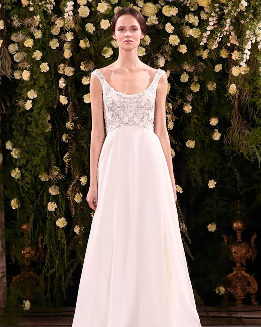 jenny packham wedding dress spring 2019 scoop neck embellished bodice