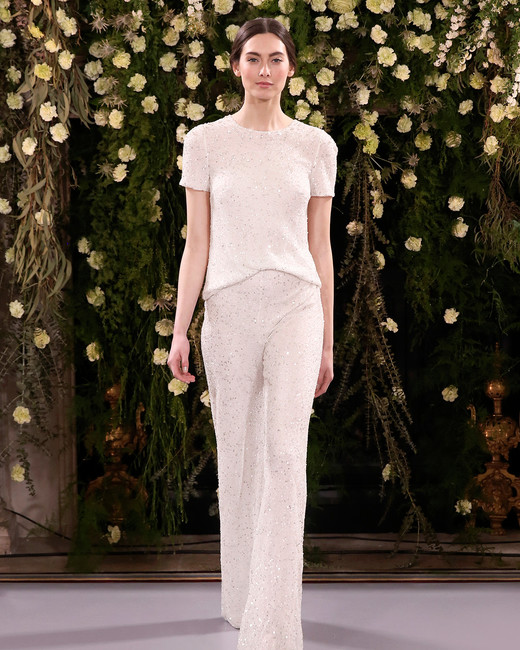 jenny packham wedding dress spring 2019 pants separates with sparkles