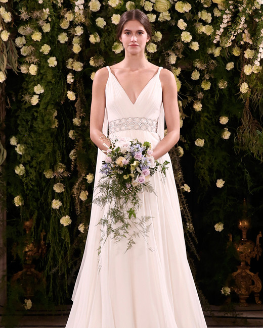 jenny packham wedding dress spring 2019 embellished belt and back fabric