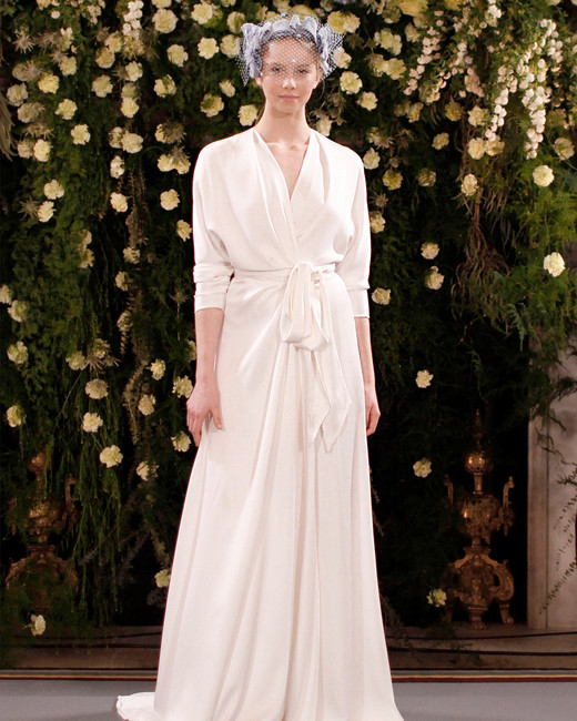 jenny packham wedding dress spring 2019 long-sleeved wrap with sash