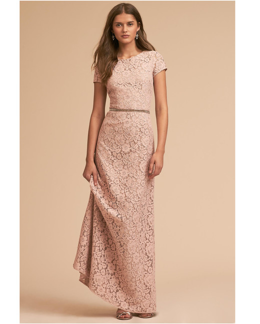 lace bridesmaid dresses donna morgan