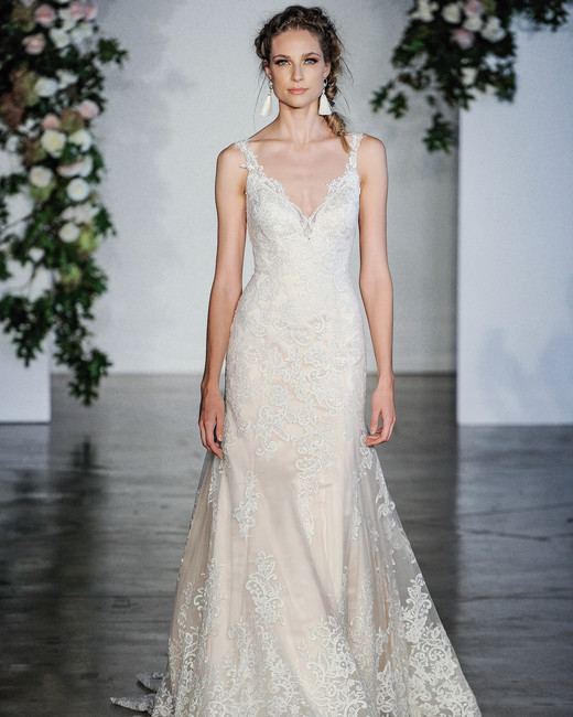 Morilee Embellished V-Neck Wedding Dress Fall 2018