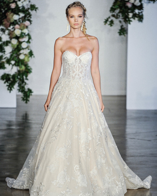 Morilee Off-the-Shoulder Sweetheart A-Line Wedding Dress Fall 2018