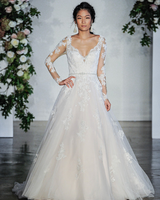 Morilee Long Sleeves V-Neck A-Line Wedding Dress Fall 2018