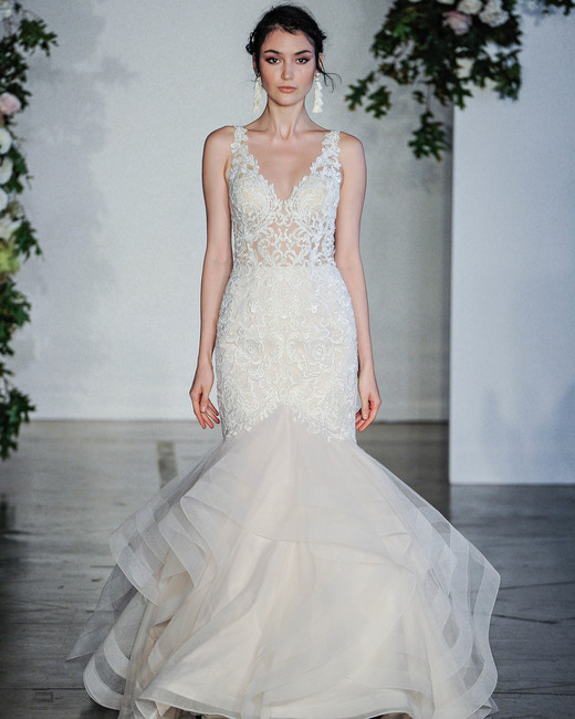 Morilee V-Neck Layered Trumpet Wedding Dress Fall 2018