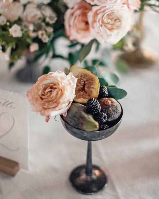 natalie paul wedding centerpiece in champagne glass