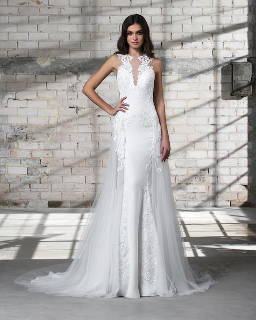 pnina tornai wedding dress spring 2019 lace sleeveless a-line