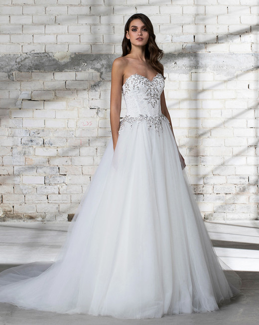 pnina tornai wedding dress spring 2019 strapless tulle a-line