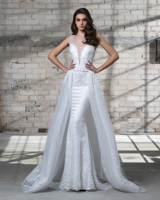 pnina tornai wedding dress spring 2019 layered skirt illusion sleeveless