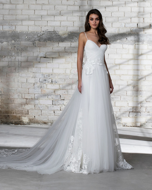 pnina tornai wedding dress spring 2019 tulle spaghetti strap a-line