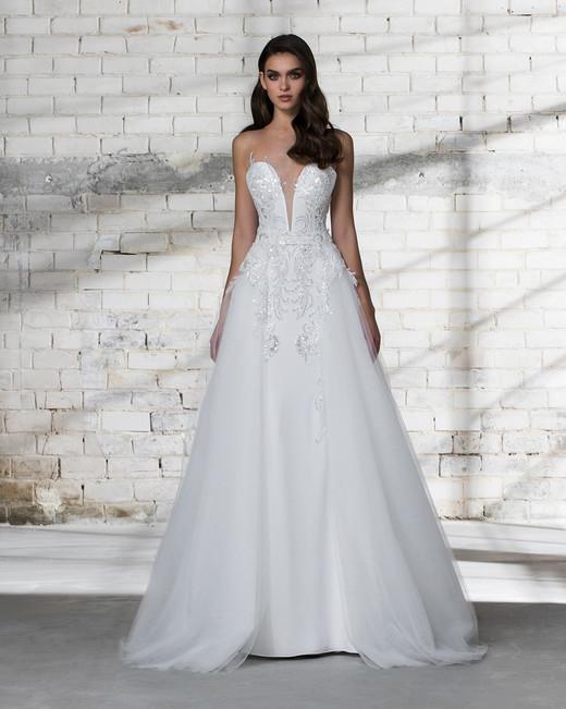 pnina tornai wedding dress spring 2019 beaded a-line sleeveless