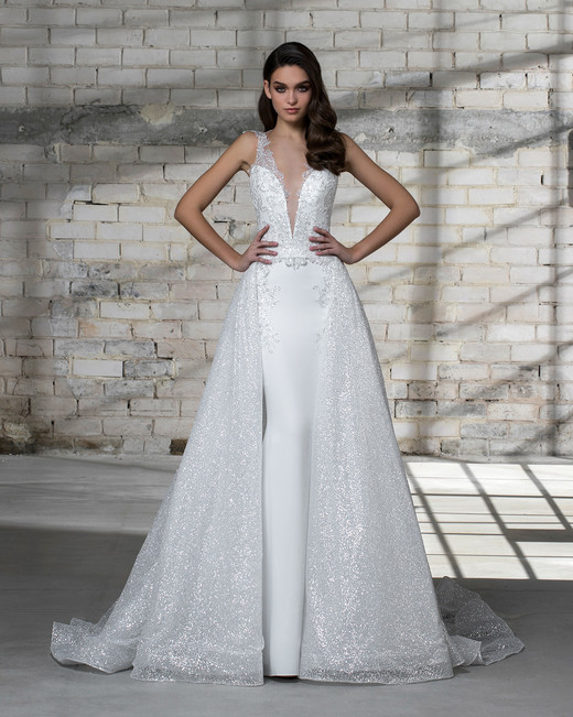 pnina tornai wedding dress spring 2019 ball gown sleeveless