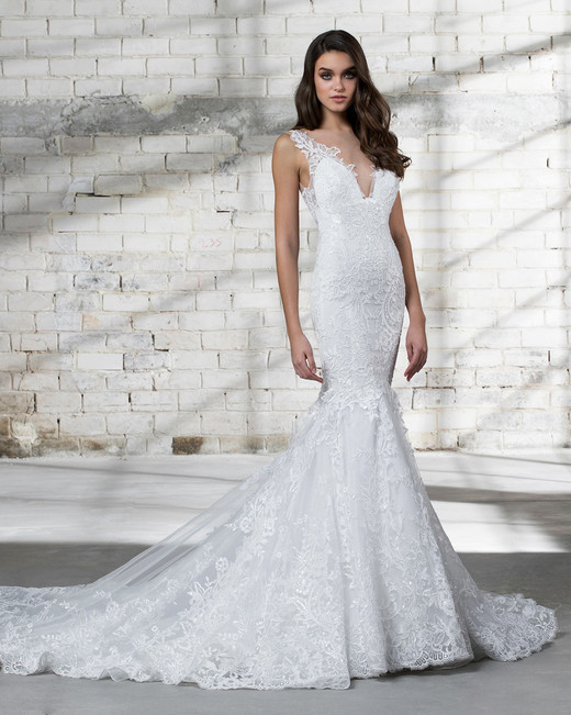 pnina tornai wedding dress spring 2019 lace sleeveless mermaid