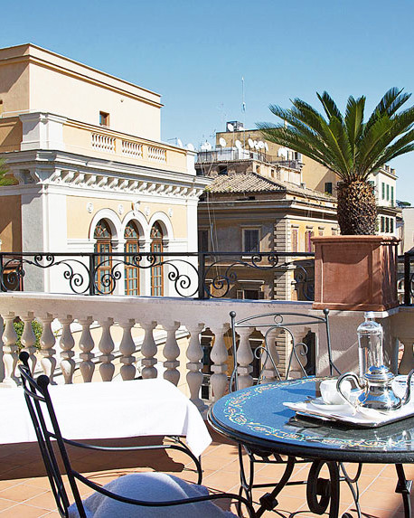 rooftop palazzo dama hotel rome
