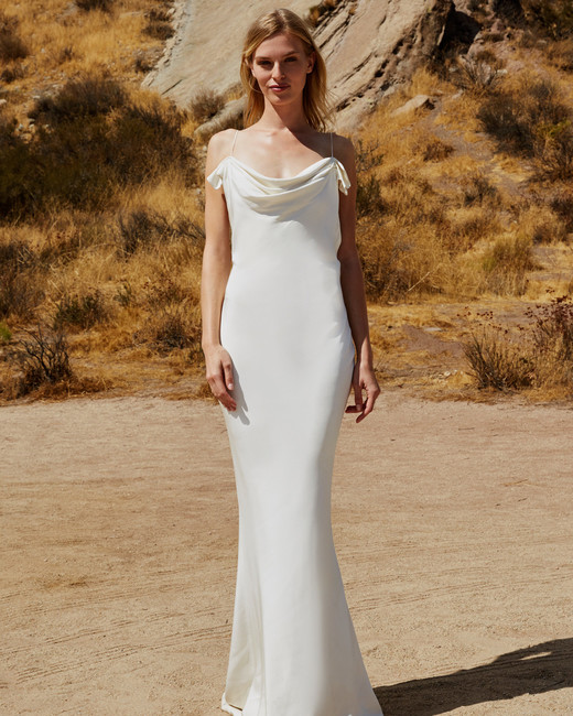 savannah miller fall 2018 spaghetti strap wedding dress