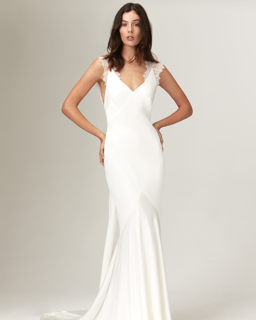savannah miller fall 2019 mermaid v neck sleeveless simple lace