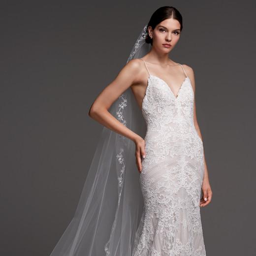 watters wedding dress fall 2018 lace spaghetti strap