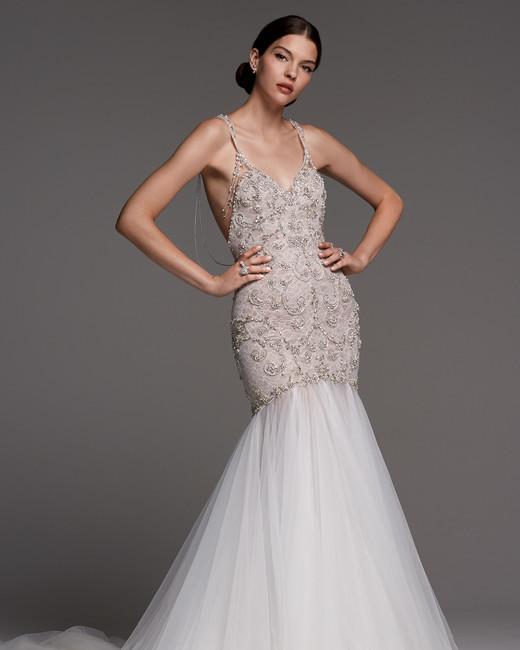watters wedding dress fall 2018 v-neck mermaid embellished
