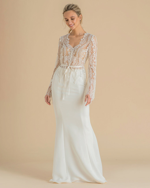 catherine deane wedding dress spring 2019 lace net top