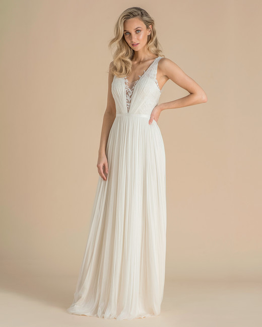catherine deane wedding dress spring 2019 gathered v-neck sheath