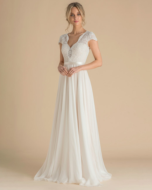 catherine deane wedding dress spring 2019 cap-sleeve beaded bodice