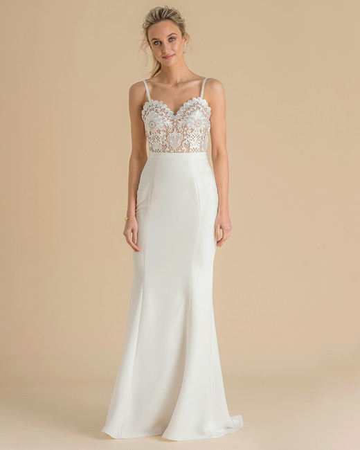 catherine deane wedding dress spring 2019 spaghetti-strap detailed bodice